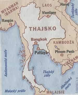 Thajsko - mapa